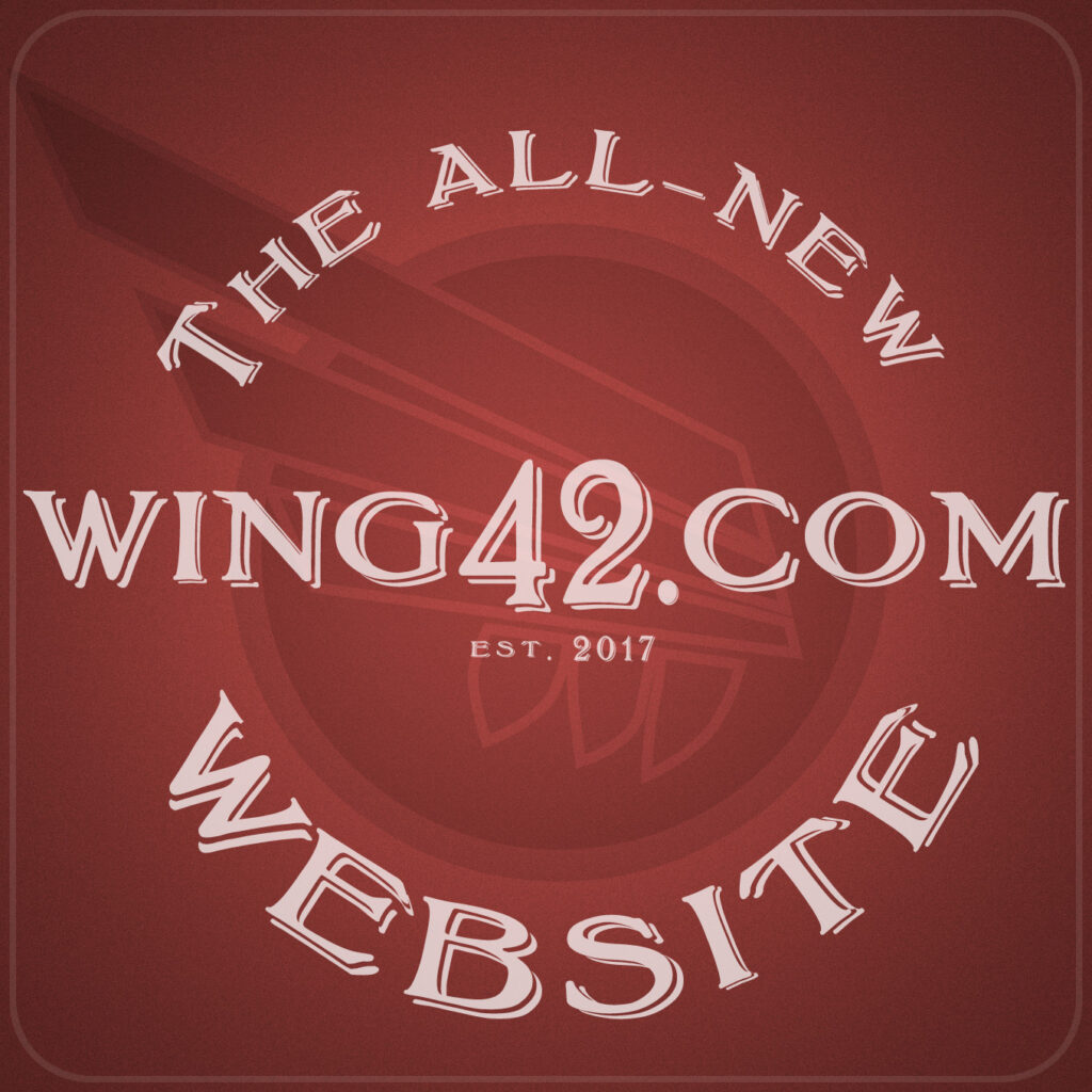 Wing42 website announcement